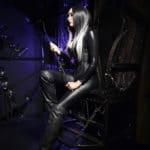 goddess-lamia-murder-mile-image black catsuit and whip